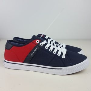 Tommy hilfiger shoes mens size 8 blue red white